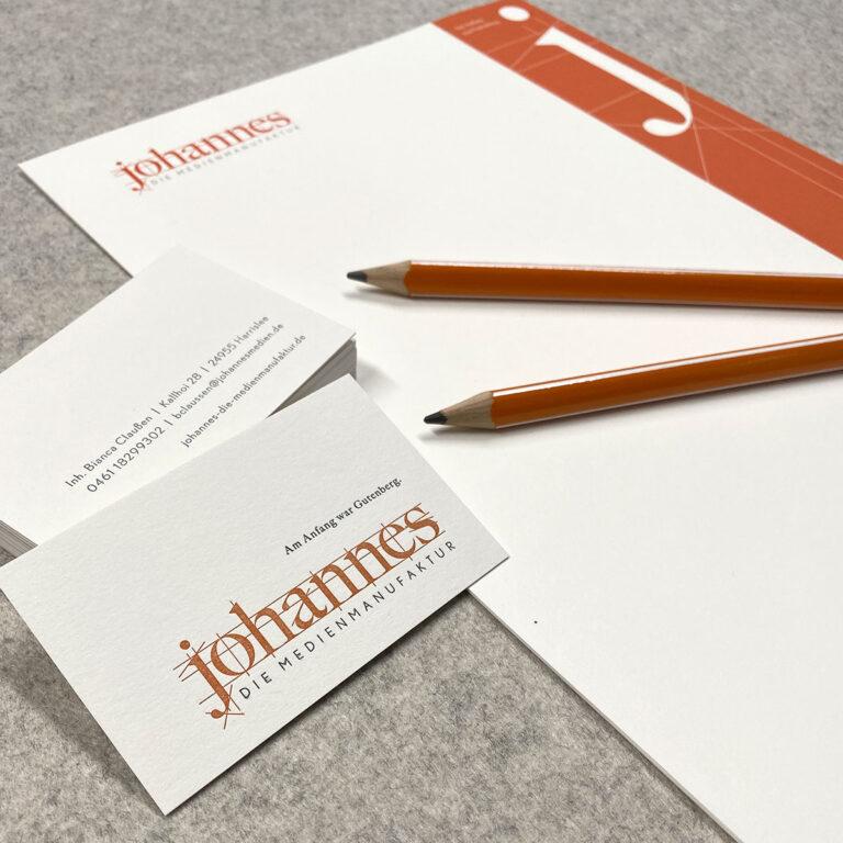 Arbeiten Johannes Geschäftsausstattung